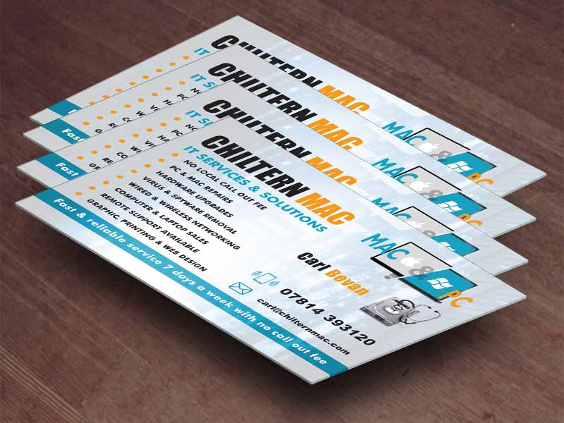 Chilternmac about computer repair Graphic design & Print in Cornwall
