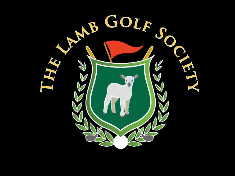 Lamb Golf Society logo design for embroidary