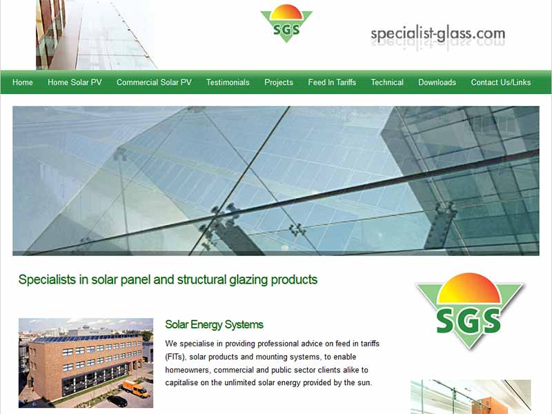 Specialist Glass Systems website