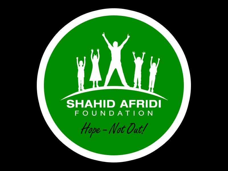 Shahid Afridi Foundation vector artwork for clothing printing