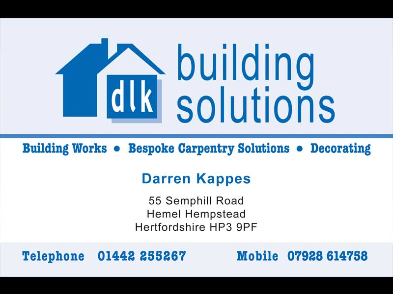 Business Card Design and Print for DLK Building Solutions
